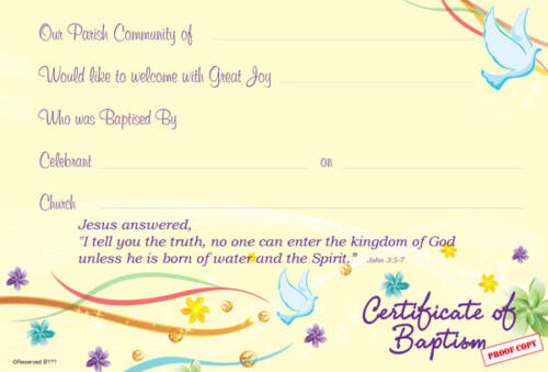 Baptism Certificate Reference BP03