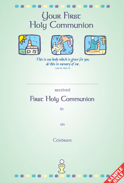 Communion Certificate Ref C22