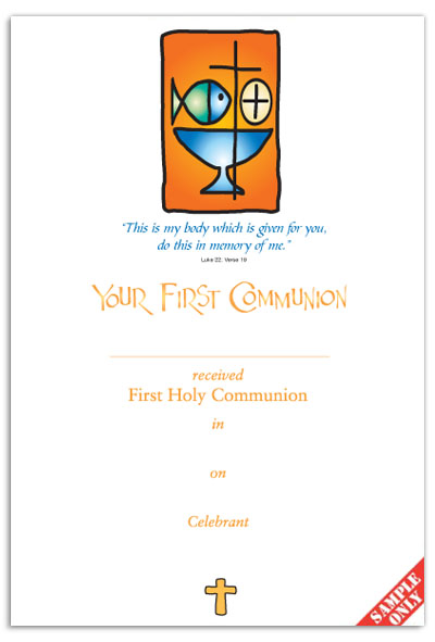 Communion Certificate Ref C25