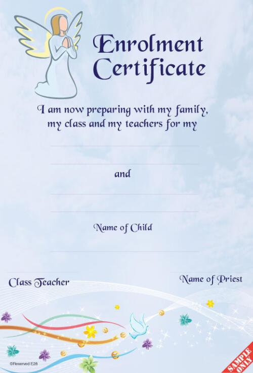 Enrolment Certificate Ref E04