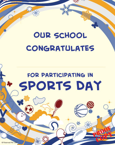 Sports Day Certificate S97