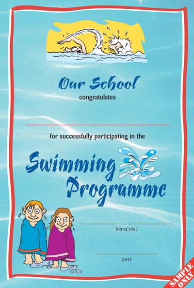 Swimming Certificate Ref SW03/W