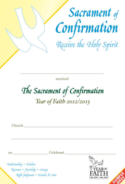 Confirmation Certificate C70-YOF
