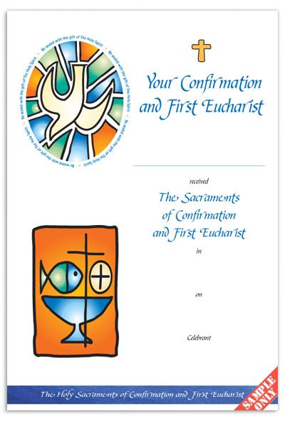Confirmation & First Eucharist Certificate Ref CC73