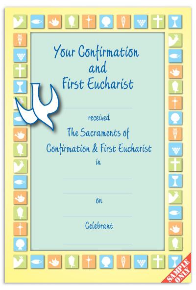 CC7Confirmation & First Eucharist Certificate Ref CC72