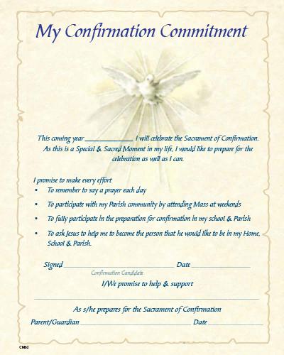 Confirmation Enrolment / Commitment Certificate CM62