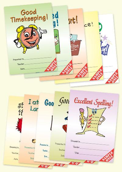 Classroom Award Cards