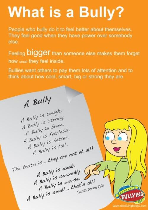 Resolving Bullying Poster – B3