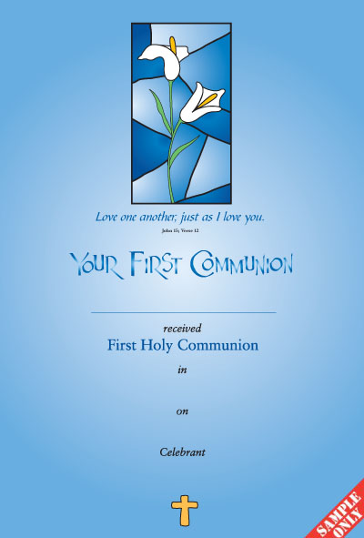 Communion Certificate Ref C24
