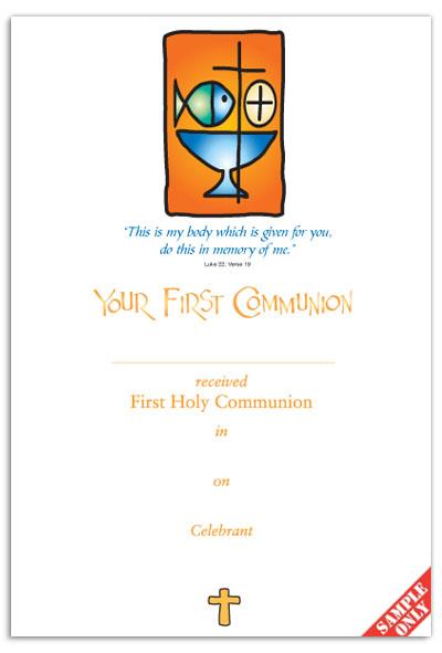 Communion Certificate Ref C25