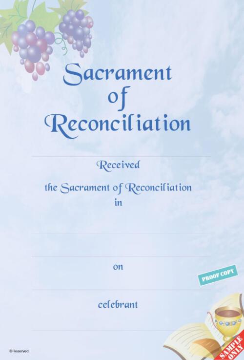 Reconciliation Certificate Ref R16