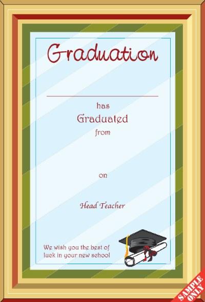 Primary School Graduation Certificate Ref G82