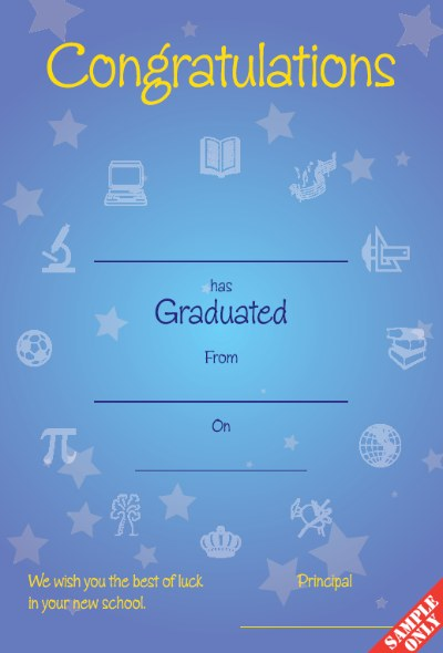 Primary School Graduation Certificate Ref G84