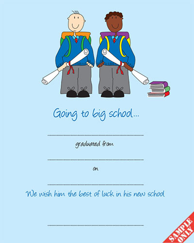 Creche/Montessori Graduation Certificate Ref G85/BN