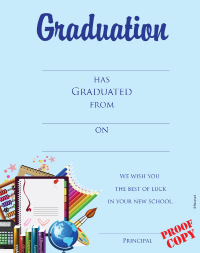 Primary School Graduation Certificate Ref G90