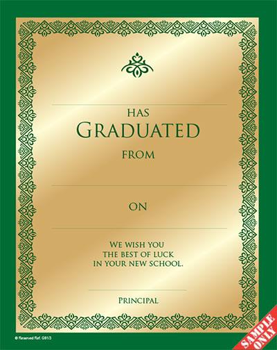 Primary School Graduation Certificate Ref G91-3