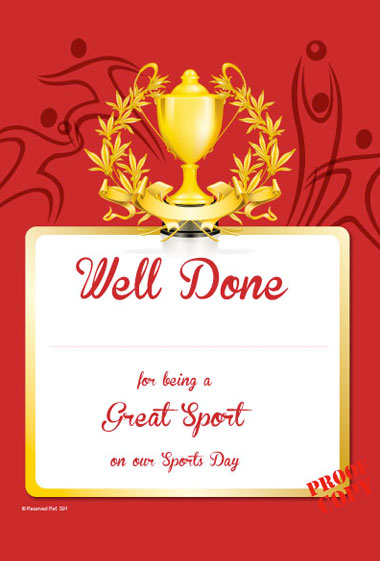 Sports Day Certificate S91/2