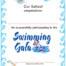 Swimming Certificate Ref SW01/W