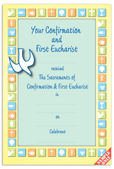 CC7Confirmation & First Eucharist Certificate Ref CC72