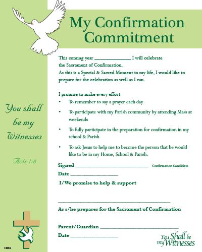 Confirmation Enrolment / Commitment Certificate CM69
