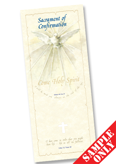 Confirmation Prayer Card Ref PC62