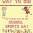 The Image shows children having fun on sports day