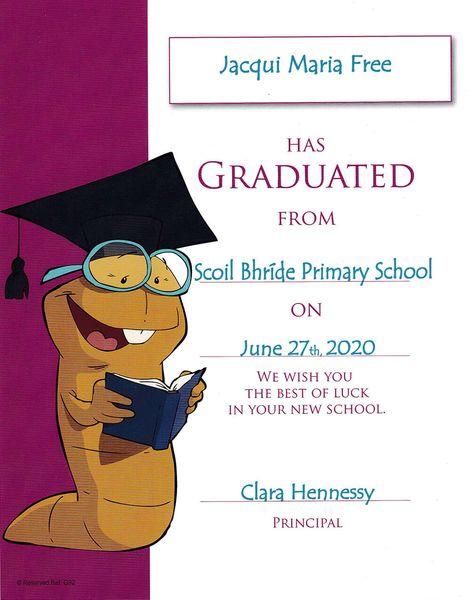 Personalized Graduation Certificate Samples